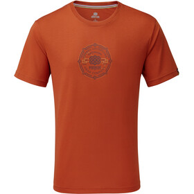 Sherpa Kimti t-shirt Heren, teej orange